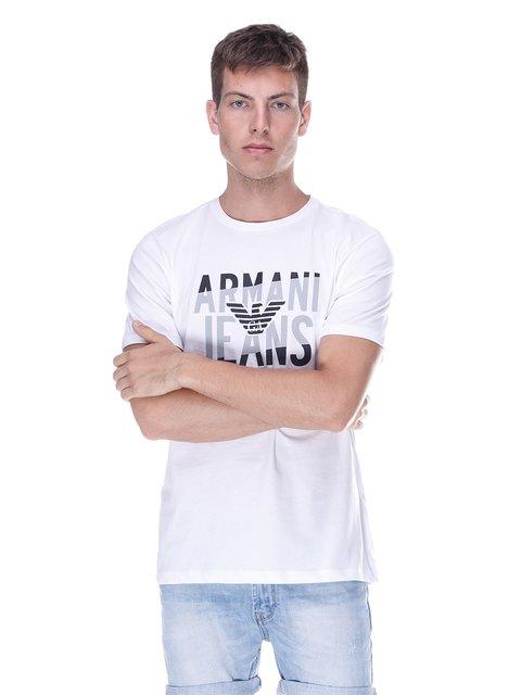 Футболка біла з принтом Armani Jeans 3382953