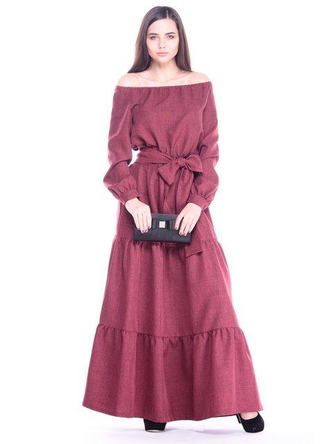 Платье светло-сливовое Maurini 3086095