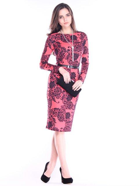 Платье в принт Rebecca Tatti 2996616