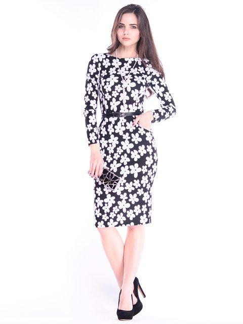 Платье в принт Rebecca Tatti 2996622