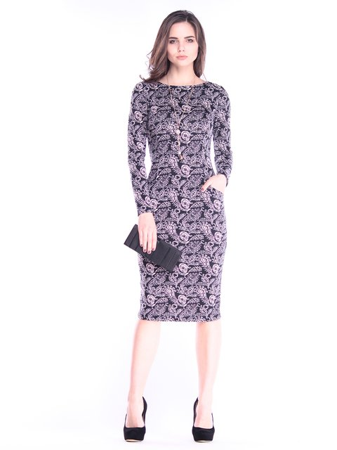 Платье в принт Rebecca Tatti 2996626