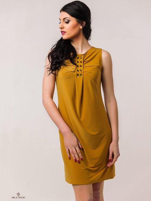 Сукня гірчичного кольору Mila Nova 2386042