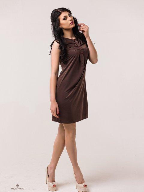 Сукня шоколадного кольору Mila Nova 2444490