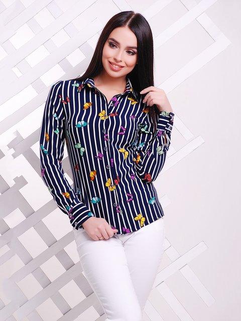Рубашка в полоску с принтом MarSe 3405599