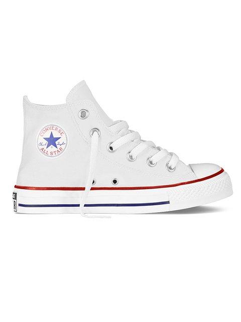 Кеди білі з фірмовим логотипом Converse 3400888