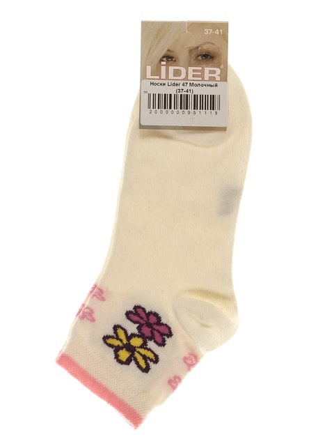 Носки молочного цвета с рисунком Lider 3279337