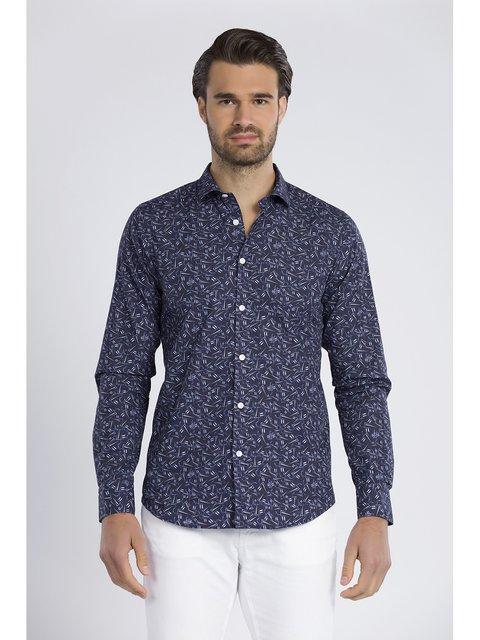 Рубашка синяя Jimmy Sanders 3418626
