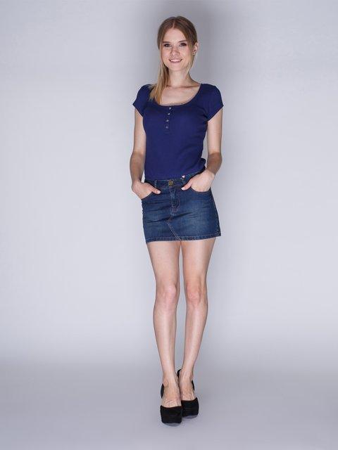 Спідниця синя джинсова Springfield 1259918