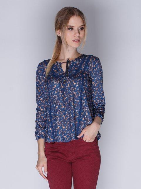 Блуза синя з квітковим принтом Springfield 3009355