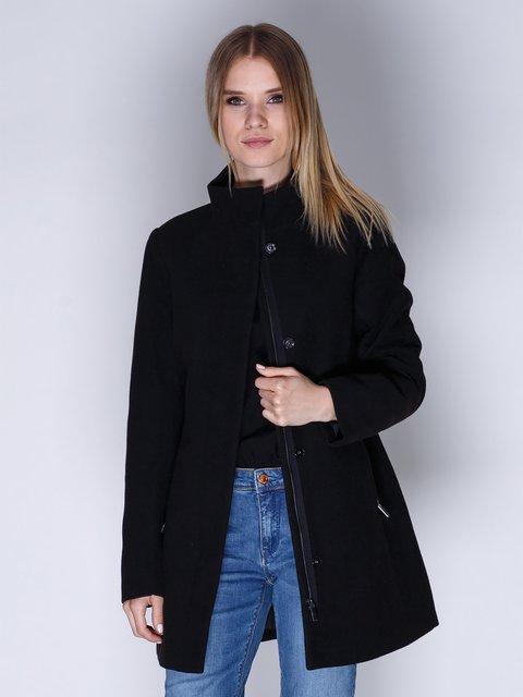 Пальто черное Springfield 2992442