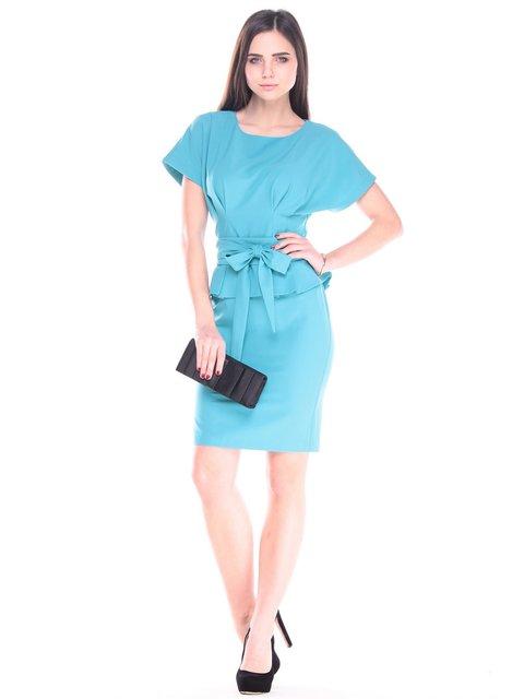 Платье цвета зеленой бирюзы Rebecca Tatti 2900714