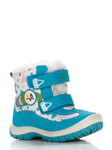 Ботинки бело-бирюзовые с принтом Xiaotiaoban 2974758