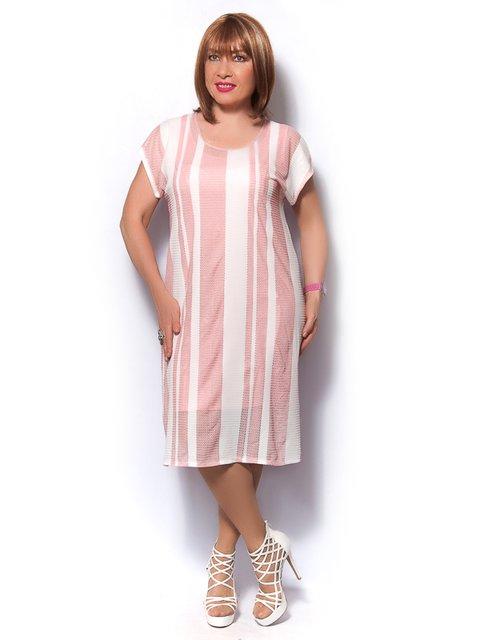 Сукня рожево-біла в смужку LibeAmore 3436362