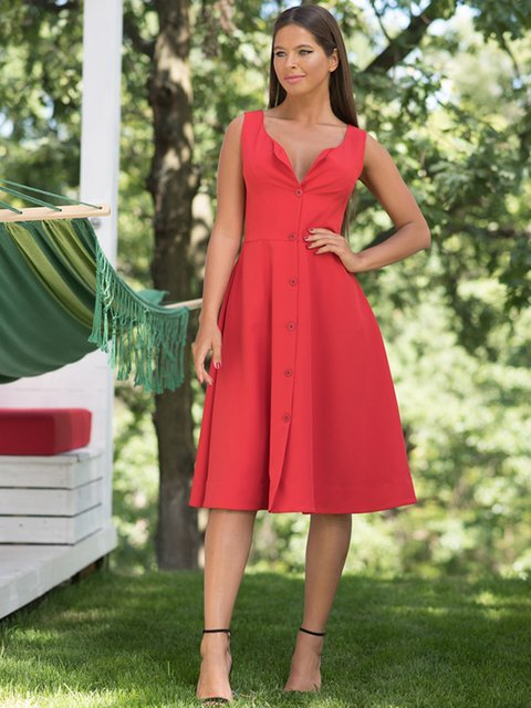 Платье красное ANNA YAKOVENKO 3225571