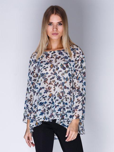 Блуза біла в квітковий принт Springfield 1899417