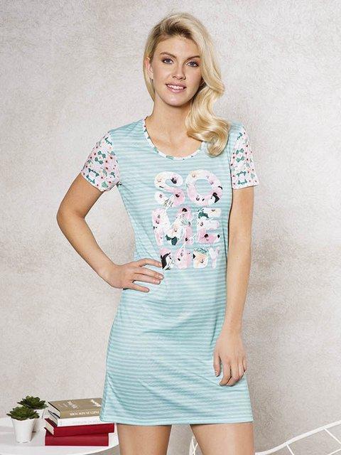 Сукня блакитна у принт Anil 3462414