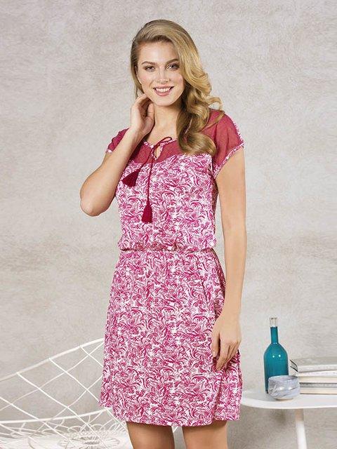 Сукня бордова в принт Anil 3462416