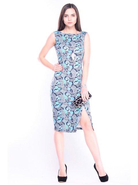 Платье синее в принт Laura Bettini 3470145