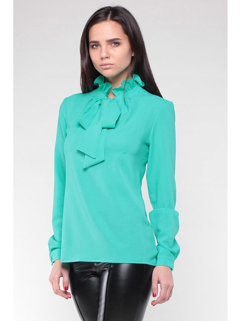 Блуза ментолового цвета Rebecca Tatti 3471145