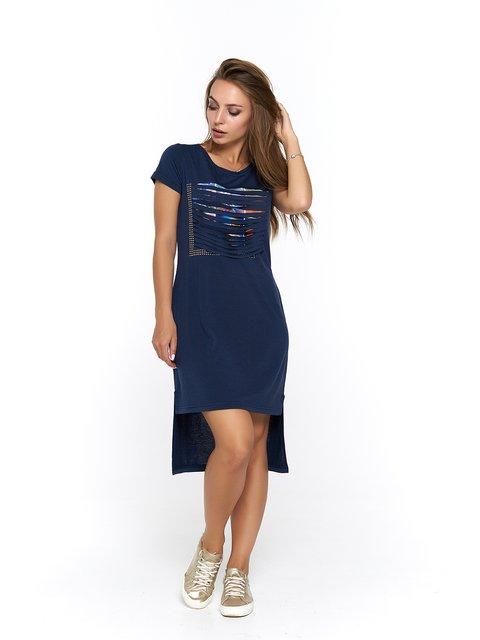 Сукня синя з принтом MOONLIGHT 3475040