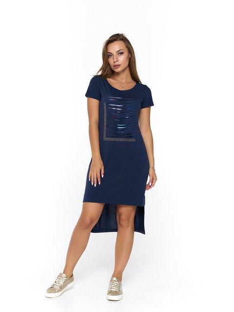 Платье синее с принтом MOONLIGHT 3475043
