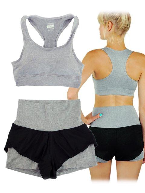 Фитнес-комплект: топ и шорты Traum 3475063