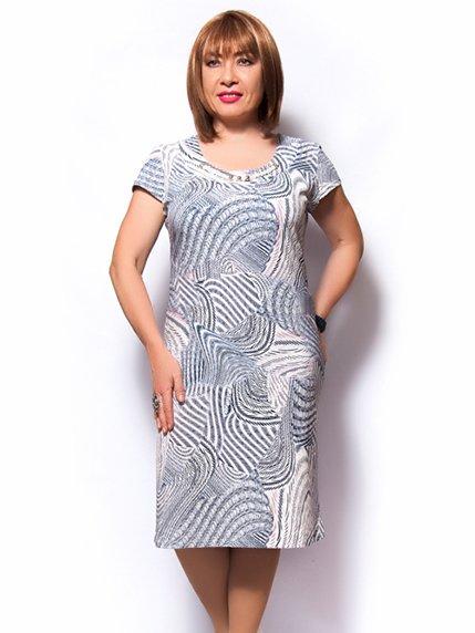 Платье абстрактной расцветки LibeAmore 3457608