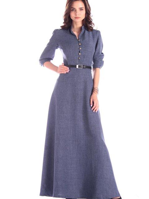 Платье цвета темно-синий графит Rebecca Tatti 3478782