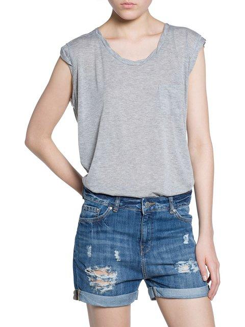 Блуза сіра Mango 2355031