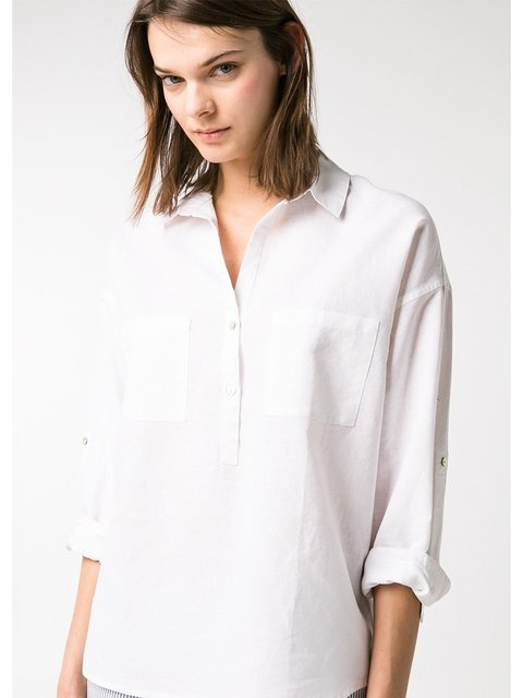 Рубашка белая Mango 2350760