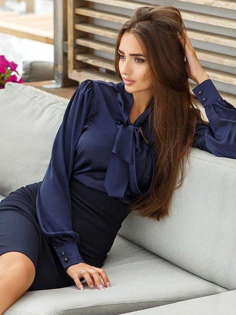 Блуза темно-синяя Gepur 3487983