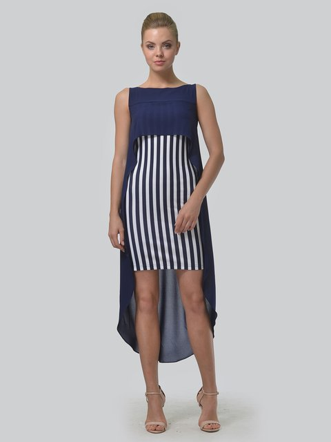 Платье синее в полоску AGATA WEBERS 3498284