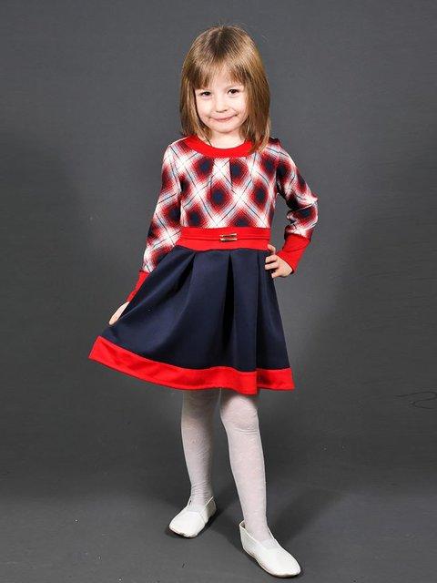Платье трехцветное в клетку Lider Class 3435585