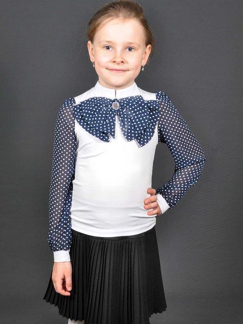 Блуза біло-синя в горошок Lider Class 3435590