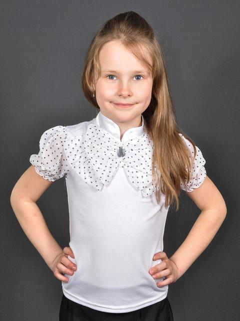 Блуза біла в горошок Lider Class 3435592