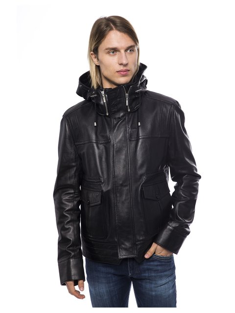 Куртка чорна Trussardi 3499002