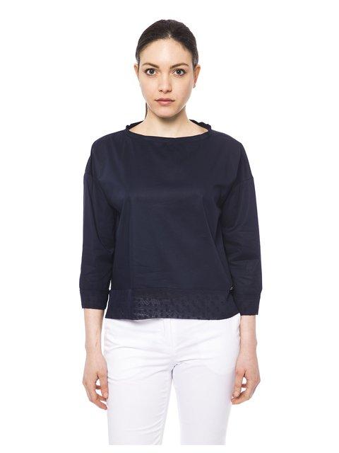 Блуза темно-синя Trussardi 3499412