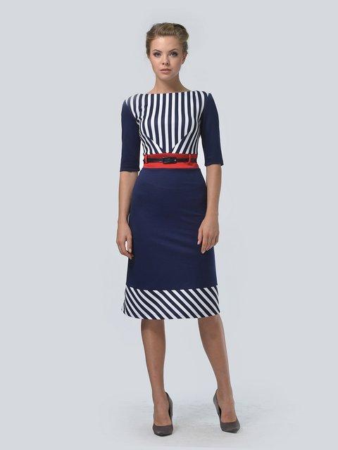 Платье синее в полоску LILA KASS 3505404