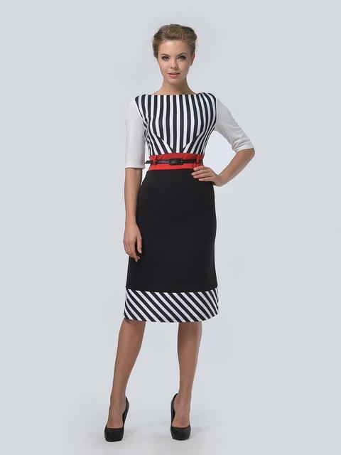 Платье черное в полоску LILA KASS 3505405