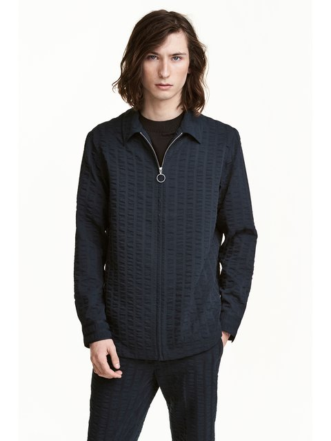 Куртка темно-синя H&M 3401338