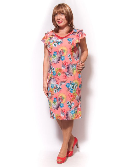 Сукня рожева з принтом LibeAmore 3512060
