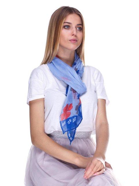 Шарф блакитний з принтом La Feny 3506506