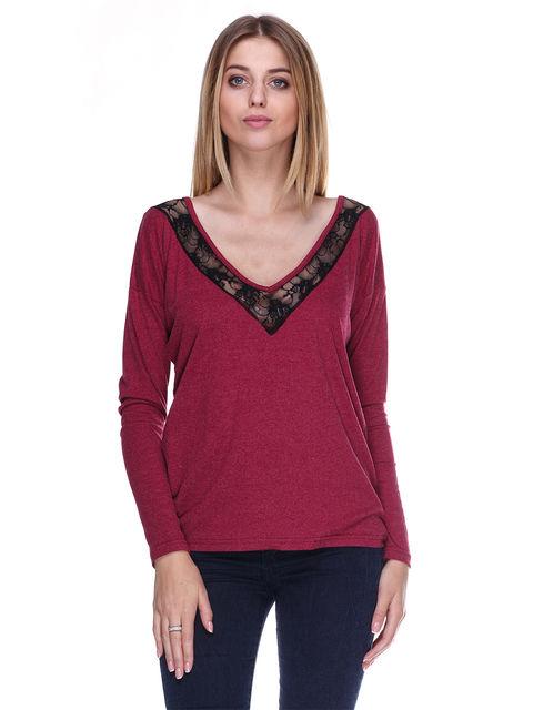 Пуловер бордовый Dujour Paris 3058141