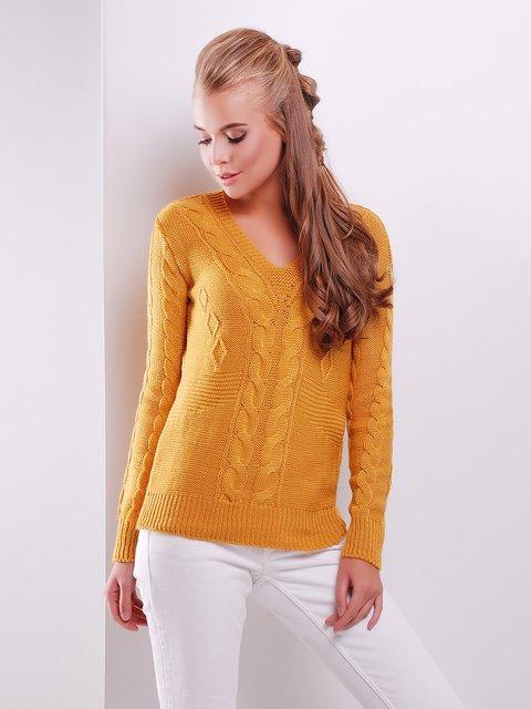 Пуловер горчичного цвета MarSe 3522022