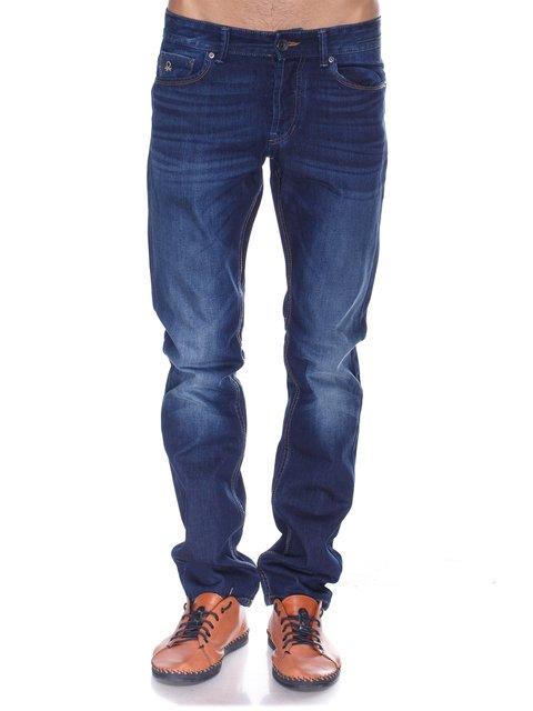 Джинси темно-сині з ефектом потертих Benetton 2548810