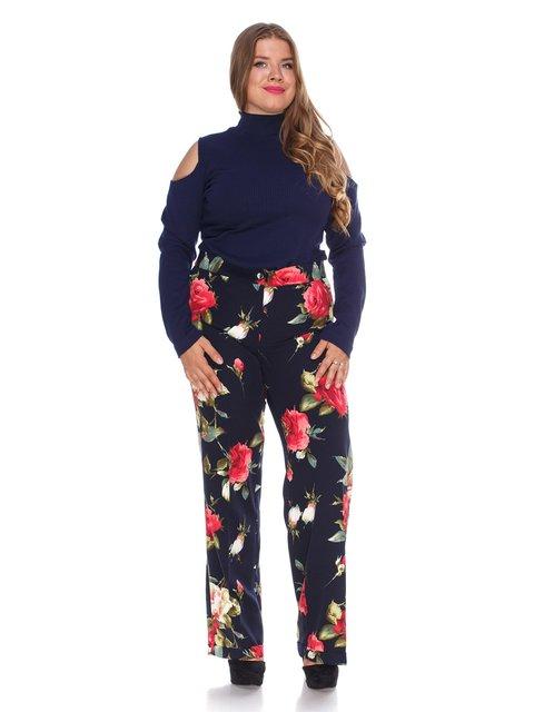 Штани темно-сині з квітковим принтом Marc Vero Maxxi 3328747