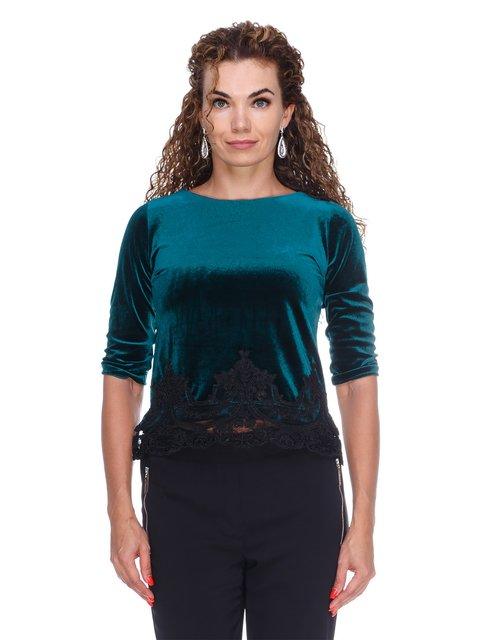 Блуза оксамитова смарагдова Marc Vero Maxxi 3158714