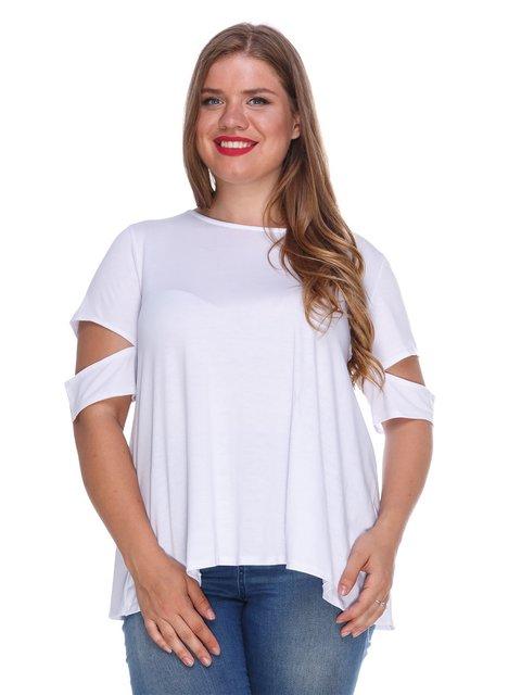 Топ білий з оригінальною спинкою Marc Vero Maxxi 3315346