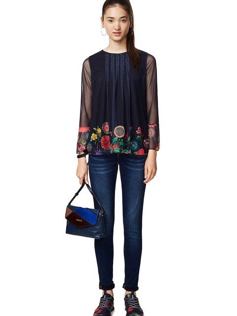 Блуза синяя Desigual 3487797