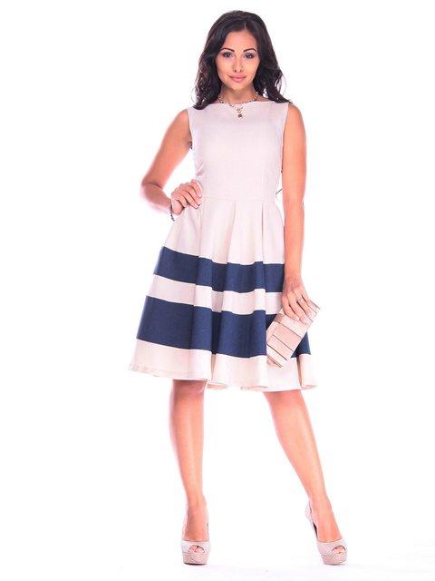 Платье бежевое с темно-синим Laura Bettini 3218504